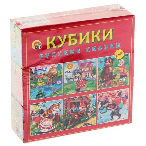 Кубики-пазлы Рыжий кот Русские пазлы рыжий кот пазлы золотой гусь 160 элементов