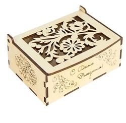 Astra & Craft Деревянная заготовка для декорирования коробочка С днем рождения L-269