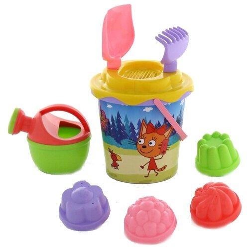 Фото - Набор Полесье Три кота №6 62369 полесье набор игрушек для песочницы 468 цвет в ассортименте