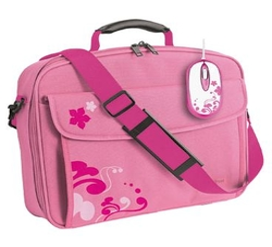 Сумка Trust Notebook Bag & Mouse Bundle - Pink 16