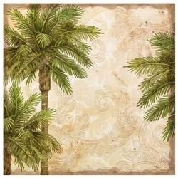 Бумага K&Company 31х31 см, 25 листов, Пальмы. Путешествие