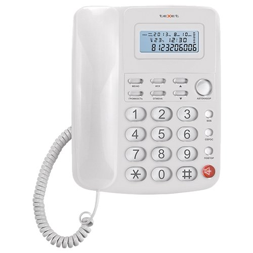Фото - Телефон teXet TX-250 проводной телефон texet tx 201 белый