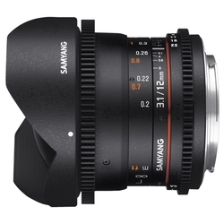 Объектив Samyang 12mm T3.1 ED AS NCS VDSLR Fish-eye 4/3