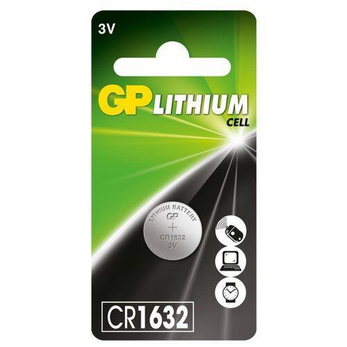 Фото - Батарейка GP Lithium Cell CR1632 батарейка gp lithium cr123a
