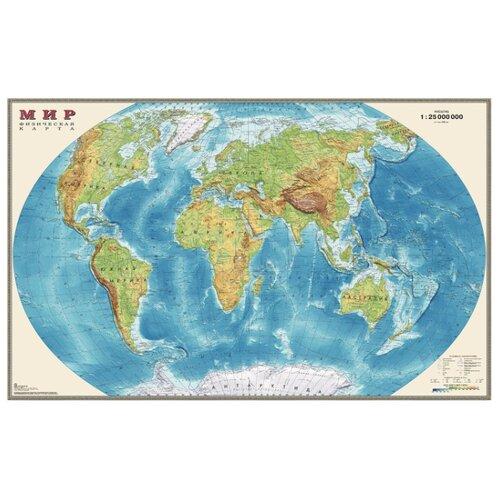 DMB Физическая карта Мира 1:25 25