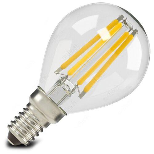 X-flash Filament P45 E14 4W x flash лампа светодиодная x flash шар матовый e14 4w 4000k 48014
