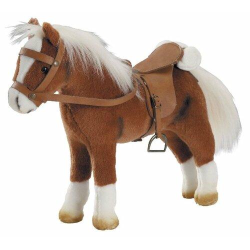 Gotz коричневая лошадь с седлом