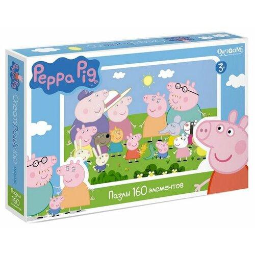 Пазл Origami Peppa Pig Встреча пазл origami peppa pig на отдыхе 4 в 1