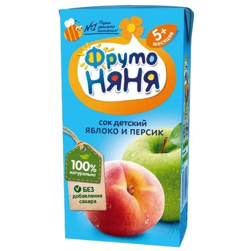 Сок ФрутоНяня Яблоко-Персик без нектар прогресс фрутоняня малышам яблоко и черная смородина с 5 мес 200 мл