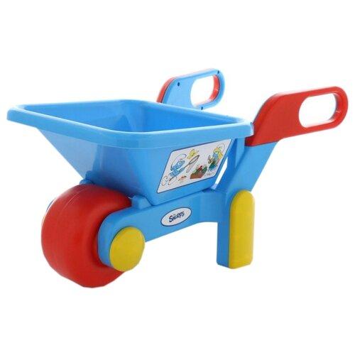 Фото - Тележка Полесье Смурфики №1 64448 полесье игрушечная тележка supermarket 1 с набором продуктов цвет в ассортименте