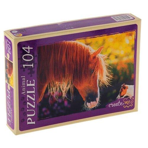 Пазл Рыжий кот Animal Лошадь и