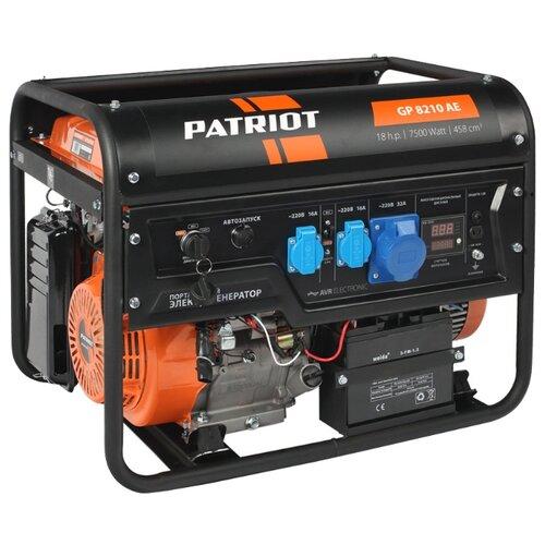 Бензиновая электростанция бензиновая электростанция patriot gp 6510le