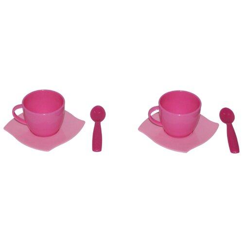 Фото - Набор посуды Полесье Алиса на 2 полесье набор игрушек для песочницы 468 цвет в ассортименте