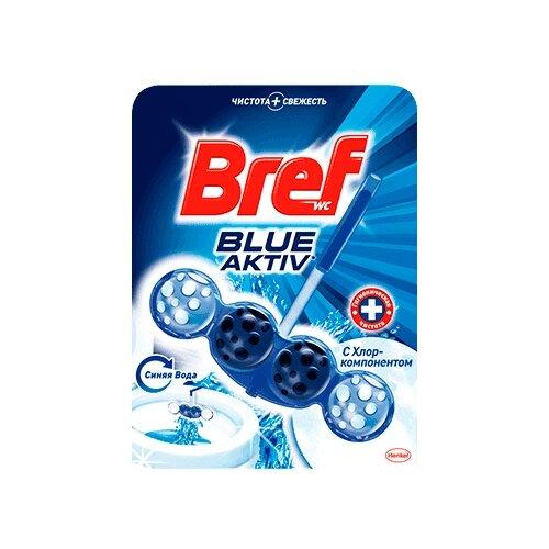 Bref туалетный блок Blue Aktiv чистящее средство для унитаза bref aquamarine aktiv океанский бриз 50 г
