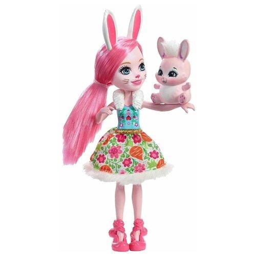 Кукла Enchantimals Бри Кроля с кукла enchantimals кукла с питомцем fnh22 пики попугай