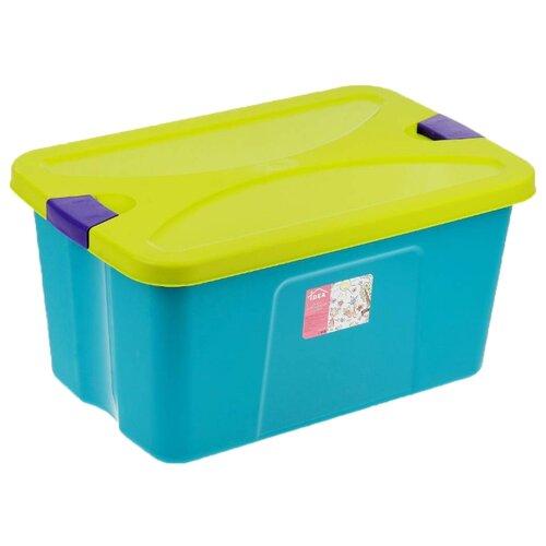 Контейнер IDEA Секрет 50 л М 2597 контейнер для мусора idea цвет голубой мрамор 8 л