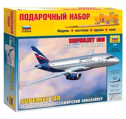 Сборная модель ZVEZDA Региональный пассажирский авиалайнер Superjet 100 (7009PN) 1:144