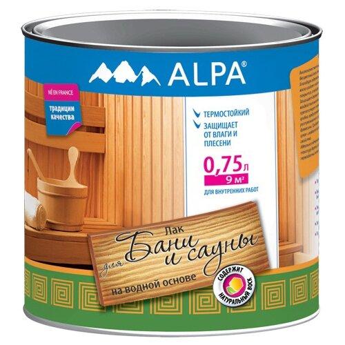 Лак Alpa Для бани и сауны