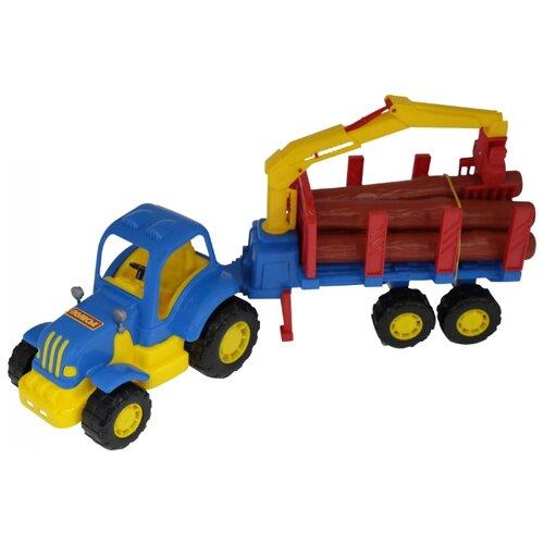 Фото - Трактор Полесье Крепыш с полесье набор игрушек для песочницы 468 цвет в ассортименте