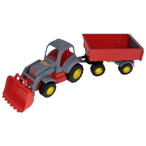 Фото - Трактор Полесье Силач №1 с полесье набор игрушек для песочницы 468 цвет в ассортименте