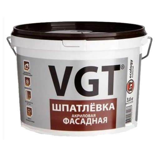 Шпатлевка VGT акриловая фасадная фото
