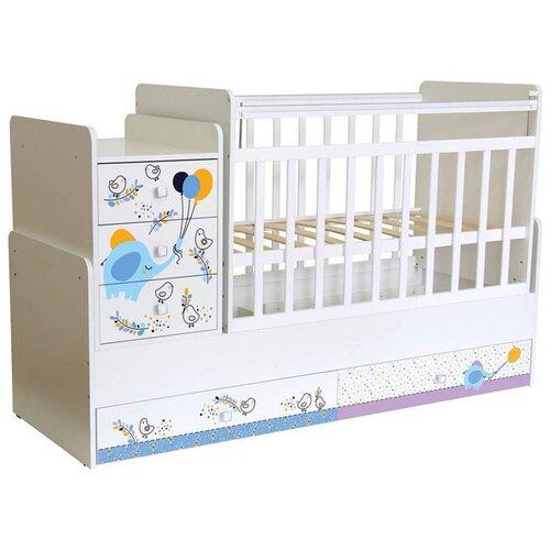 Кроватка Polini Simple 1100 кроватка polini simple белый синий