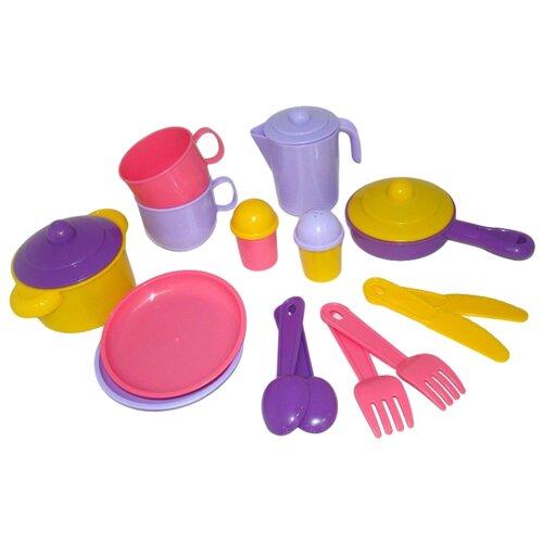 Фото - Набор посуды Полесье Хозяюшка губка для посуды хозяюшка мила задира 01019