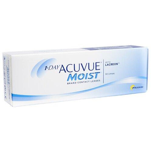 Однодневные контактные линзы 1-day acuvue moist 90 шт обеспечивают потрясающий комфорт на все время ношения