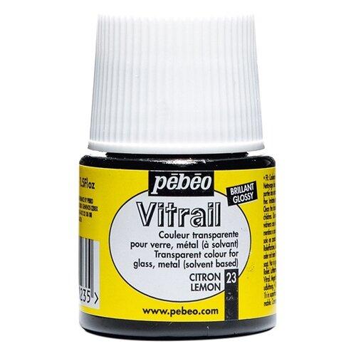 Краски Pebeo Vitrail Лимонный pebeo краска масляная xl цвет кадмий лимонный 37 мл