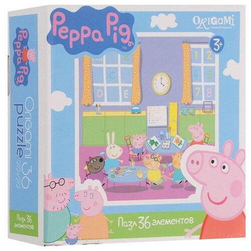 Пазл Origami Peppa Pig Детский пазл origami peppa pig на отдыхе 4 в 1