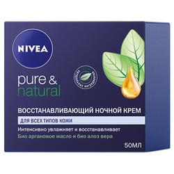 Nivea Pure & Natural Восстанавливающий ночной крем для лица