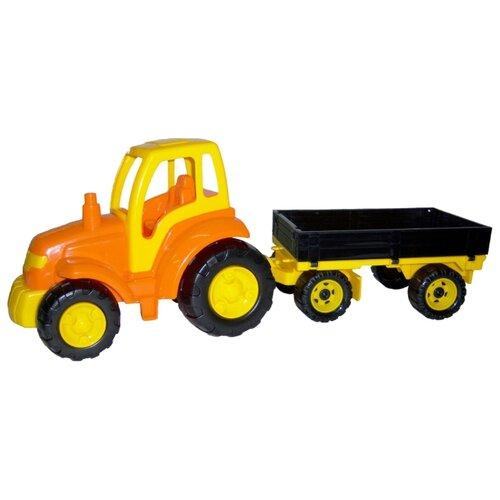 Фото - Трактор Полесье с прицепом полесье набор игрушек для песочницы 468 цвет в ассортименте