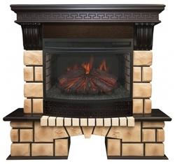 Электрический камин RealFlame Stone Brick 25 AO + Firefield 25 S IR