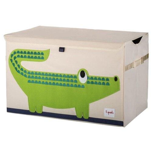 Фото - Ящик 3 Sprouts Крокодил 3 sprouts сундук для хранения игрушек 3 sprouts жёлтый носорог
