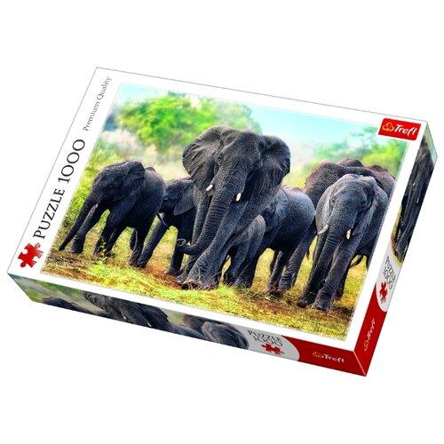 trefl пазл лас вегас ночью trefl 2000 деталей Пазл Trefl Африканские слоны