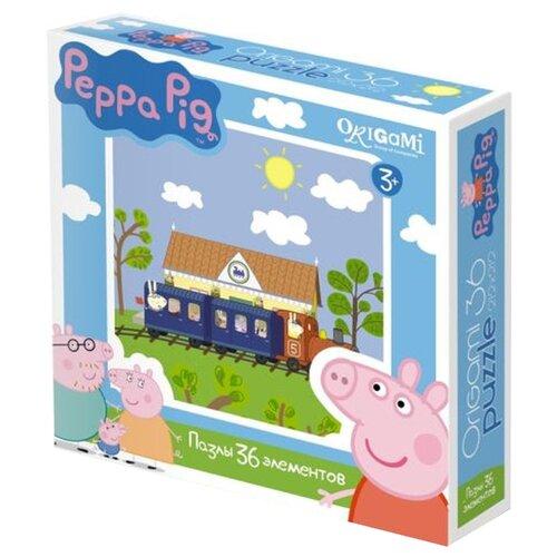 Пазл Origami Peppa Pig Железная пазл origami peppa pig на отдыхе 4 в 1