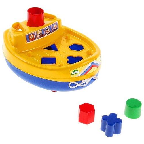 Каталка-игрушка ЛЕНА Кораблик игрушка лена самосвал для мусора 08831