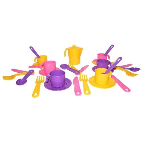 Фото - Набор посуды Полесье Анюта на 6 полесье набор игрушек для песочницы 468 цвет в ассортименте