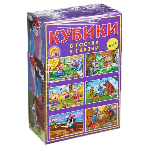 Кубики-пазлы Рыжий кот В гостях пазлы рыжий кот пазлы золотой гусь 160 элементов