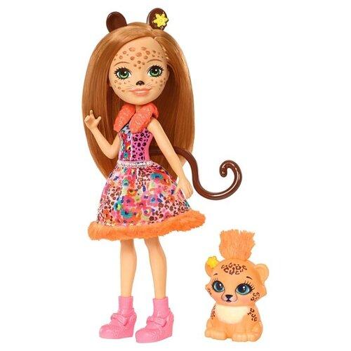 Кукла Enchantimals Чериш кукла enchantimals кукла с питомцем fnh22 пики попугай