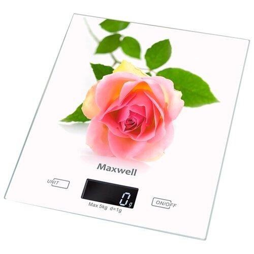 Кухонные весы Maxwell MW-1476 W весы кухонные maxwell 1477 mw pk розовый