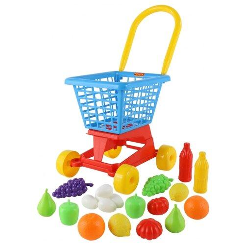 Фото - Тележка для покупок Полесье с полесье игрушечная тележка supermarket 1 с набором продуктов цвет в ассортименте
