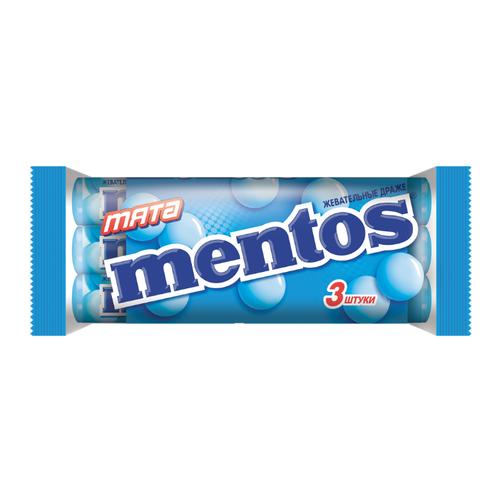 Жевательное драже Mentos 3-пэк