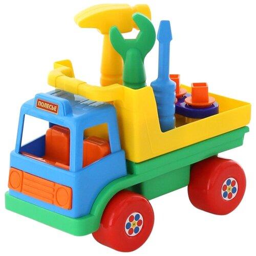 Фото - Полесье Автомобиль с полесье набор игрушек для песочницы 468 цвет в ассортименте