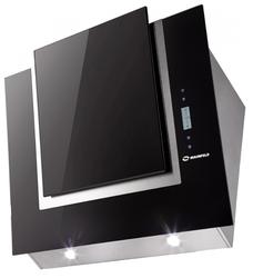 Каминная вытяжка MAUNFELD Enver 80 нержавейка, черное стекло