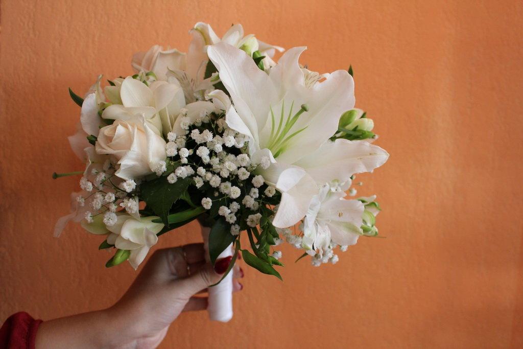Свадебный букет невесты из лилии своими руками