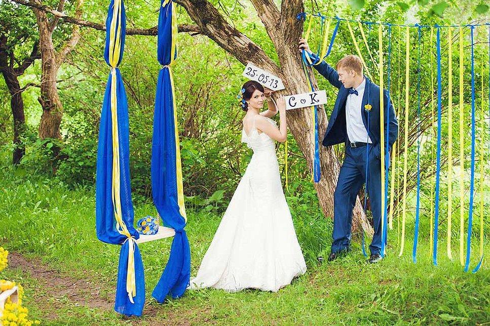 Оформление свадьба на природе своими руками 49