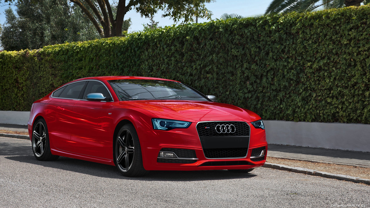 Audi A5 красная купе  № 3761305 загрузить