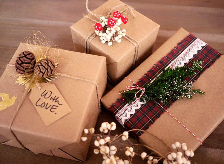 Подарок в эко стиле