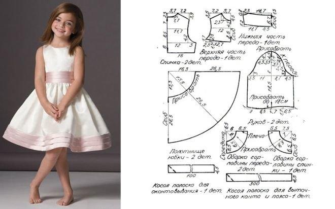 Платья для девочек шить своими руками